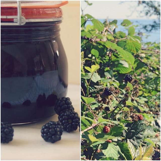Hjemmelavet brombærmarmelade