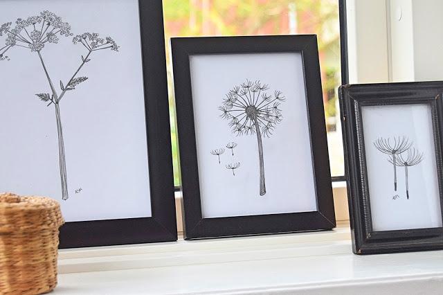 Blomstertegninger