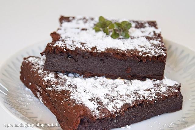 Nutella Kage Lækker Dessert Kage Bagt Helt Uden Mel