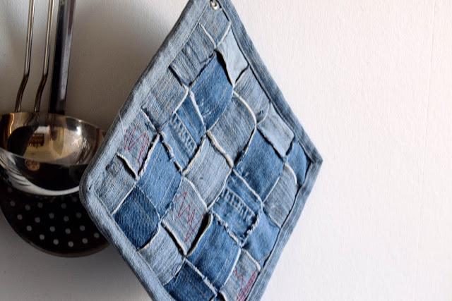Genbrug jeans: Grydelapper