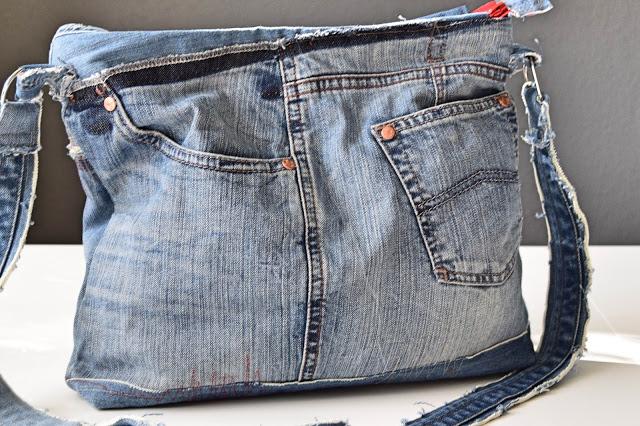Denim taske syet af genbrugsjeans