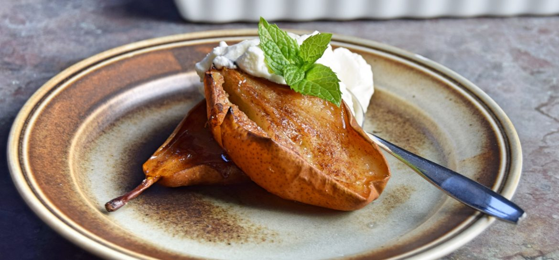 Nem lille dessert med pære