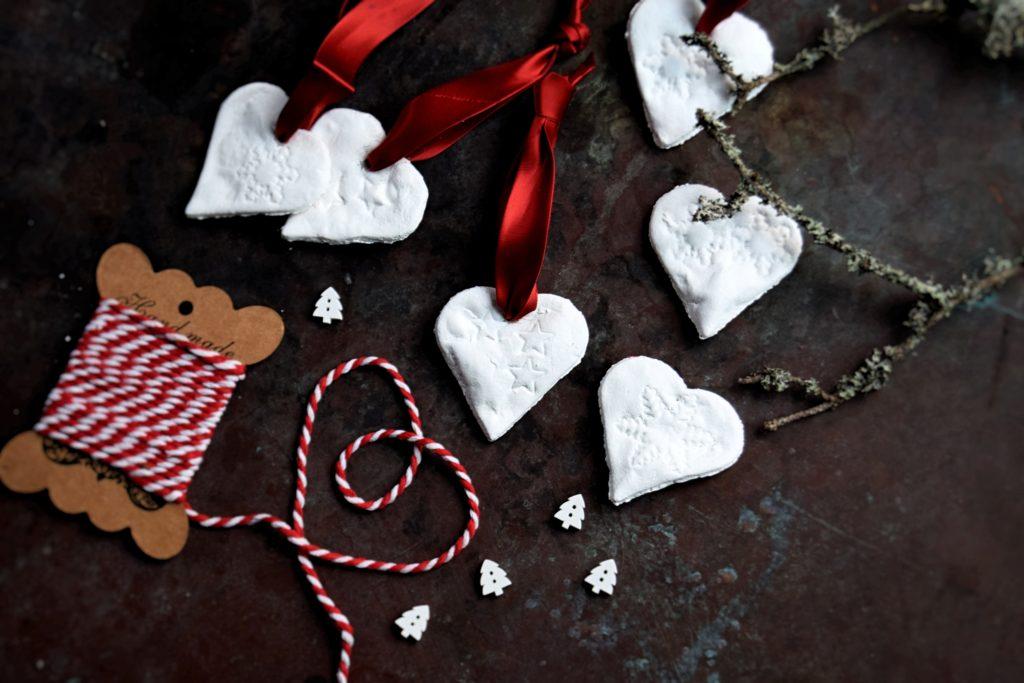 Hjerter af saltdej