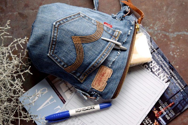 Taske af genbrugs jeans
