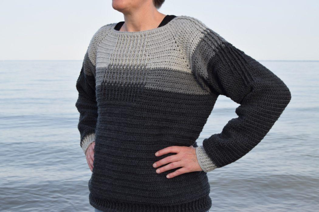 Hæklet relief sweater