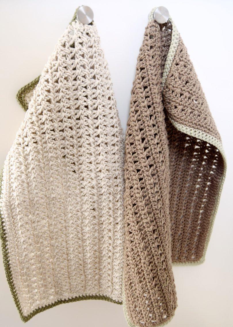 Luksus håndklædet, hæklet håndklæde