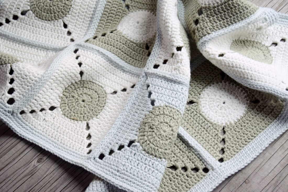 Cirkeline håndklædet, hæklet håndklæde