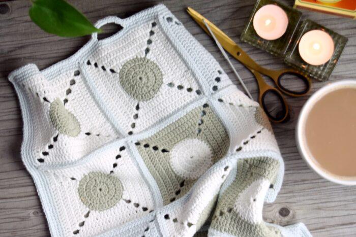 Hæklet håndklæde, Cirkeline håndklædet