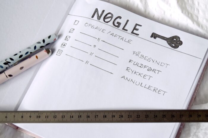 Opbygning af en bullet journal
