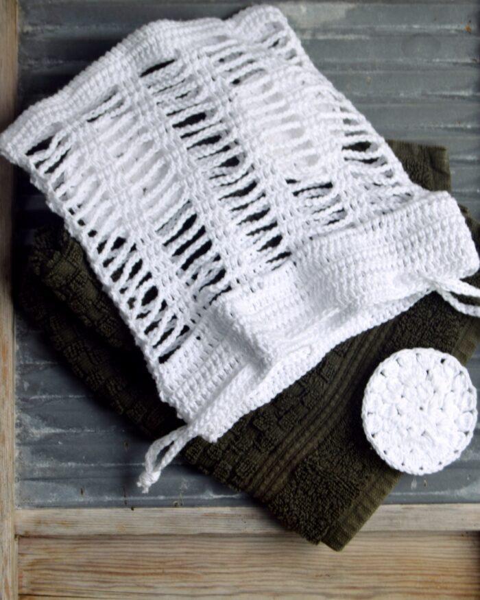 Hæklet vaskepose