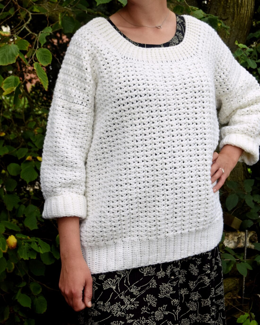 Merle sweater, hæklet sweater