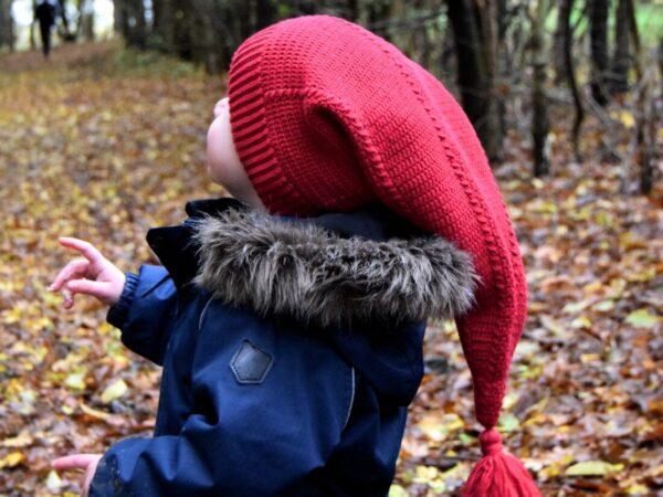 Hæklet nissehue til børn