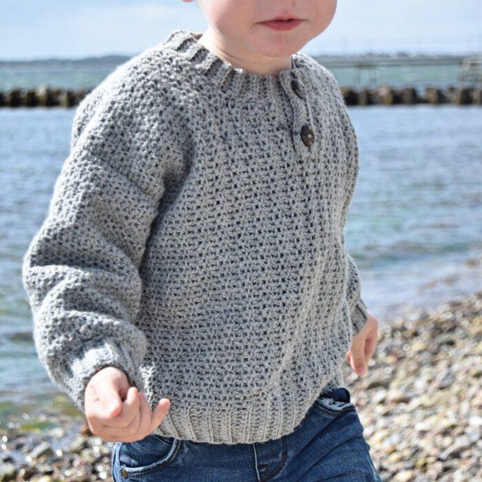 Newton sweateren, hæklet sweater til børn