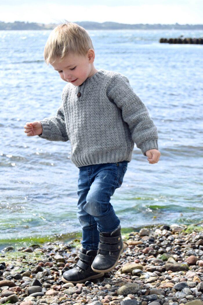 Hæklet sweater til børn