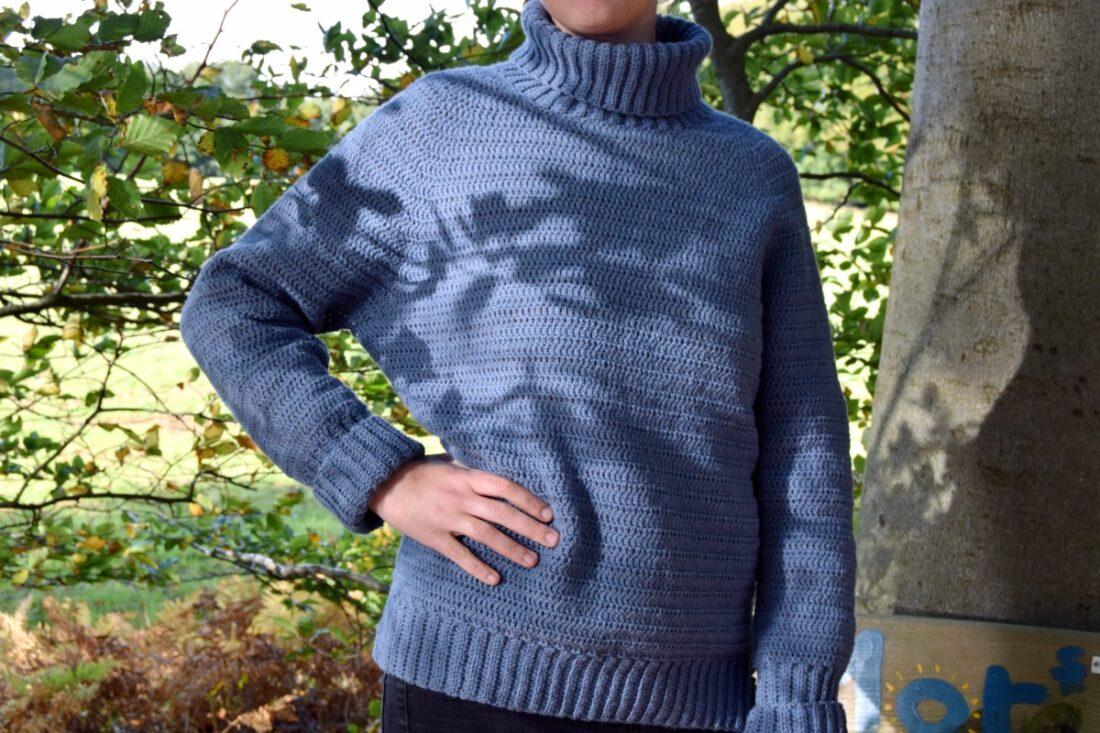 Frida basis sweater hækleopskrift