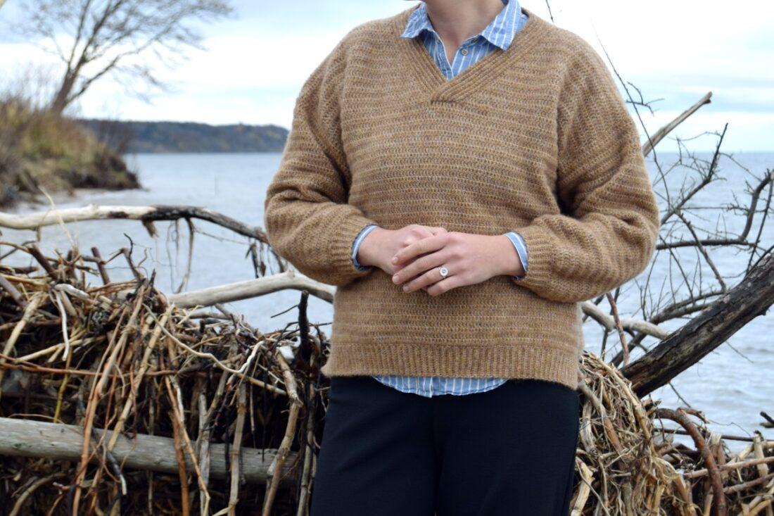 Carola sweateren, hæklet sweater dame