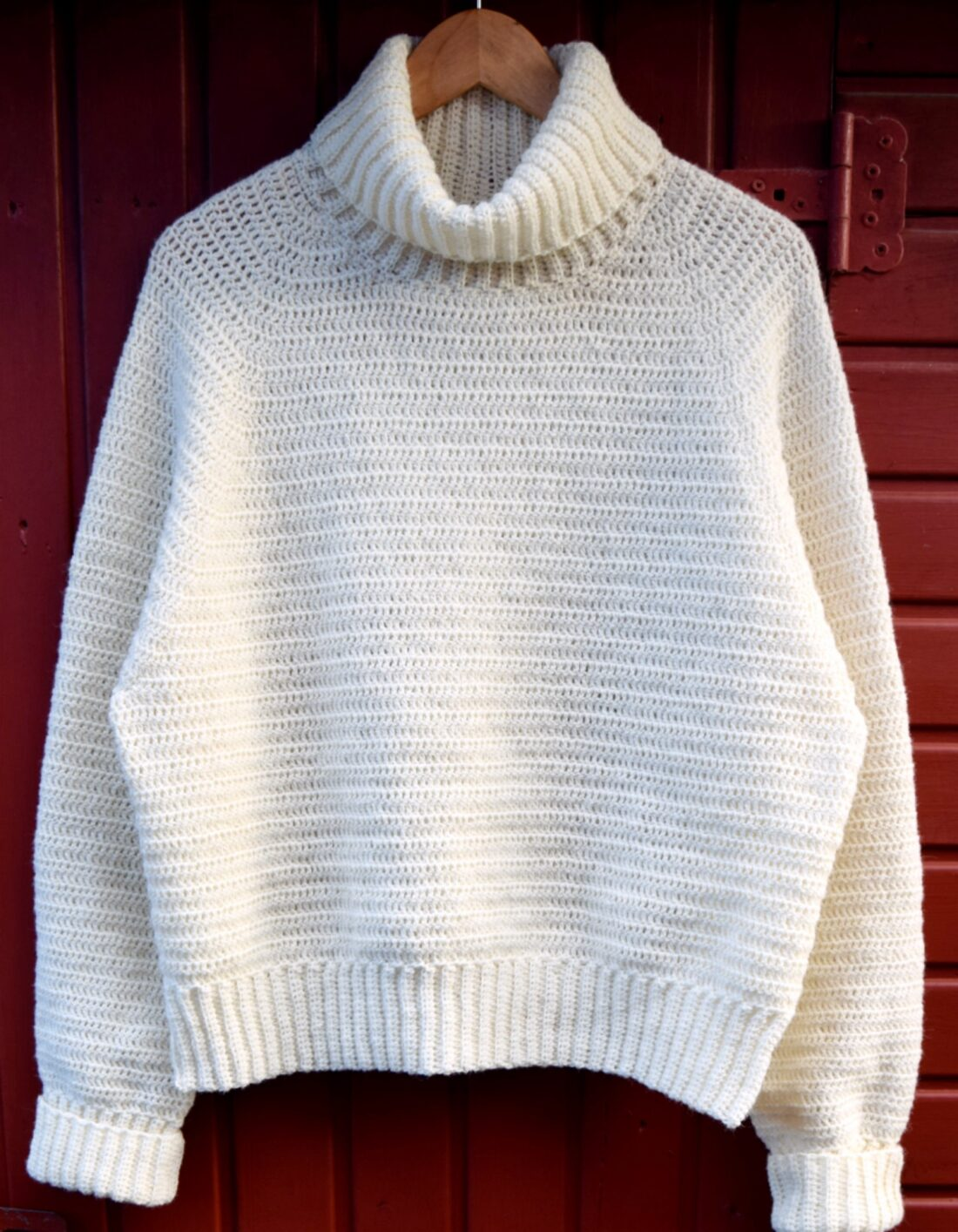 Hæklet sweater, Frida basis sweater