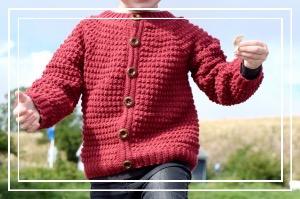 Figaro hæklet trøje til børn