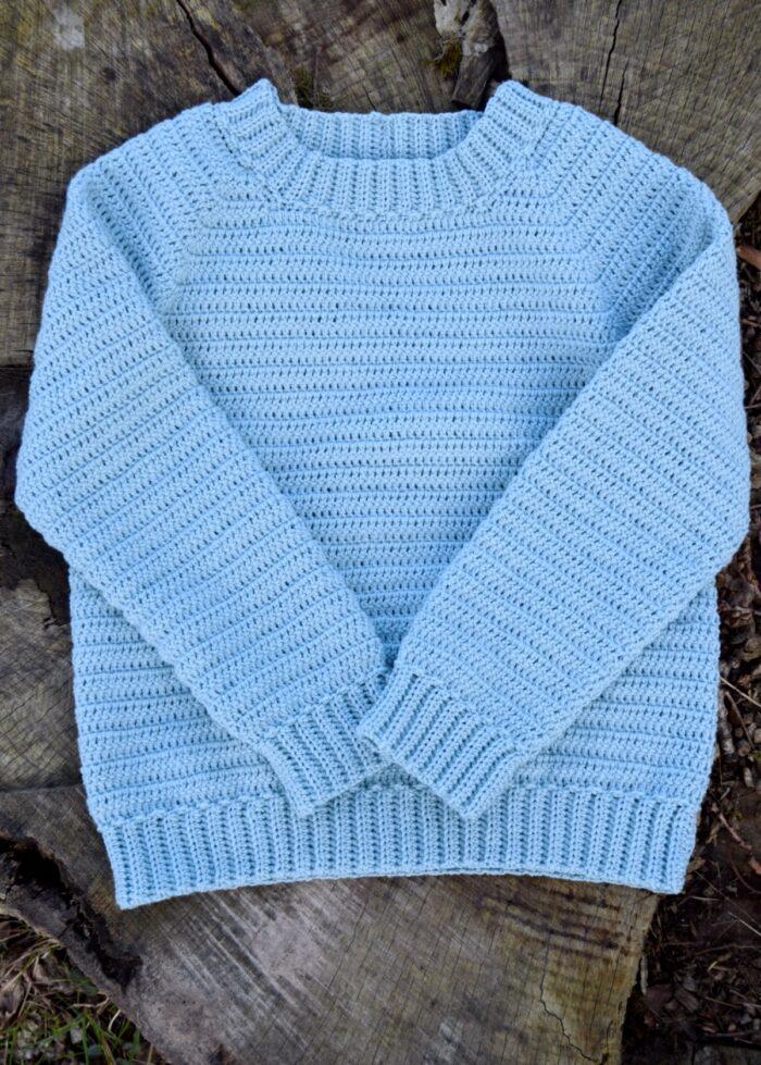 Sune basis sweater til børn, hæklet sweater til børn