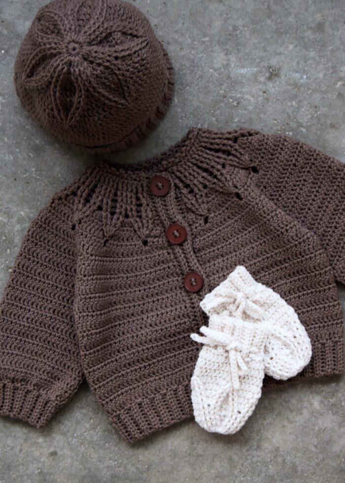 Rosettas trøje, hue og luffer