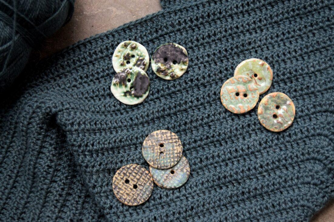 Unikke keramik knapper