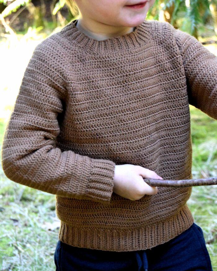 Sune basis sweater, hækleopskrift